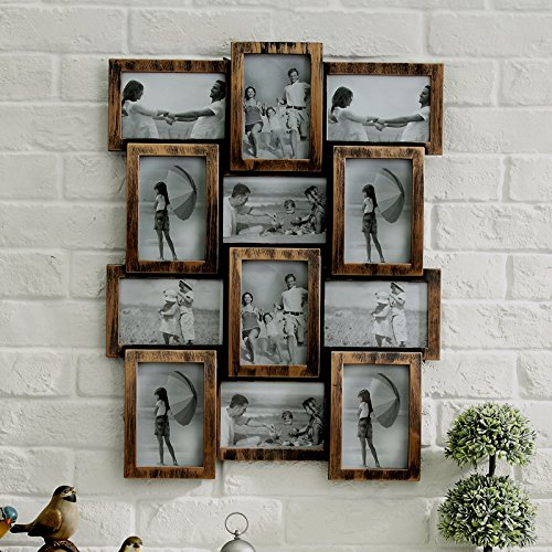 NEW-STYLISH-PHOTO-PICTURE-FRAME-HOLDS-12-PHOTOS-APERTURE-MULTI-COLLAGE-Bronze