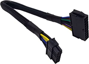 COMeap 20 Pin to 14 Pin ATX PSU Main Power Adapter Braided Sleeved Cable for IBM Lenovo PCs and Servers 12-inch(30cm)
