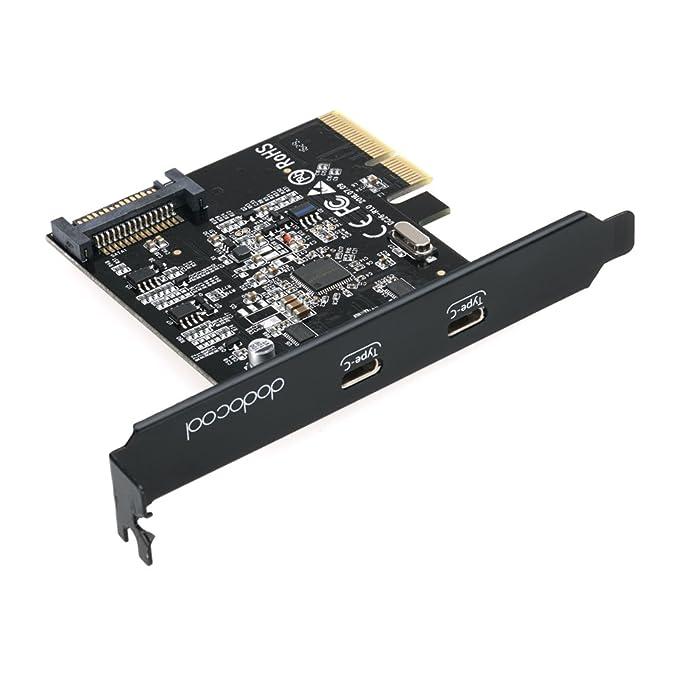 86 opinioni per dodocool USB 3.1 PCI Express-Card con Doppia Reversibile di Type-C Porte Nero