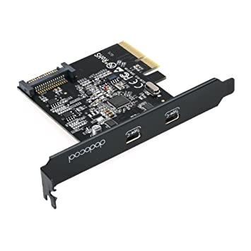 Amazon.com: dodocool PCI-Express Card with Dual Type-C Ports ...