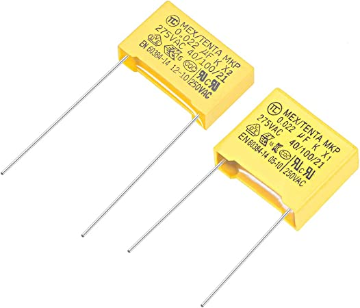 Different values available X2 Safety Capacitor 15mm Lead Pitch 275VAC
