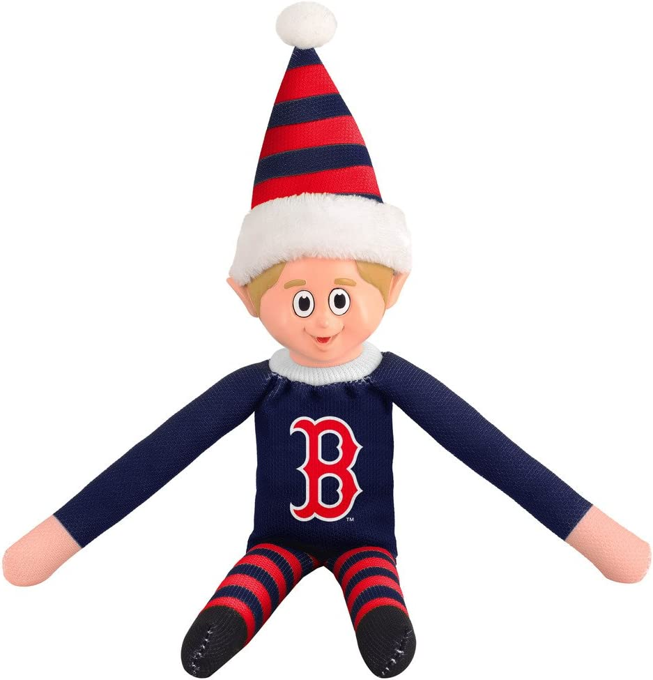 Red MLB Boston Red Sox Team Elf Collectibles