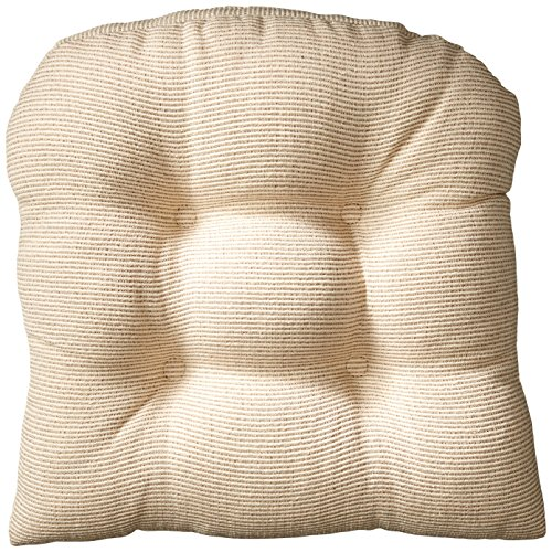 Klear Vu Gripper Non-Slip Saturn Tufted Universal Chair Cushions, 15″ x 15″, Natural