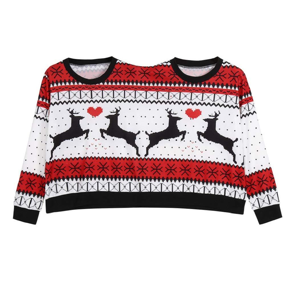 Soupliebe Zwei Personen hä ssliche Pullover Weihnachten Paare Pullover Neuheit Weihnachten Bluse Top Shirt