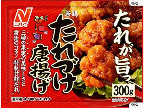 [冷凍]ニチレイ 若鶏たれづけ唐揚げ 300g×12袋
