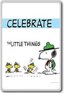 Peanuts, Celebrate The Little Things - Motivational Quotes Fridge Magnet