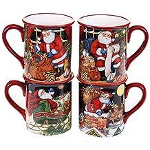 Certified International 19177SET/4 The Night Before Christmas Mugs (Set of 4), 16 oz, Multicolor