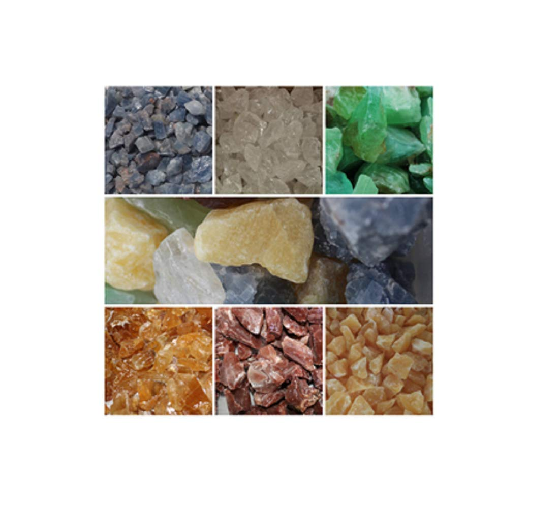 Azaina_wor 1 lb Bulk Bag of Natural Raw Rainbow Fluorite Stones Assorted Sizes, Colors and Shapes