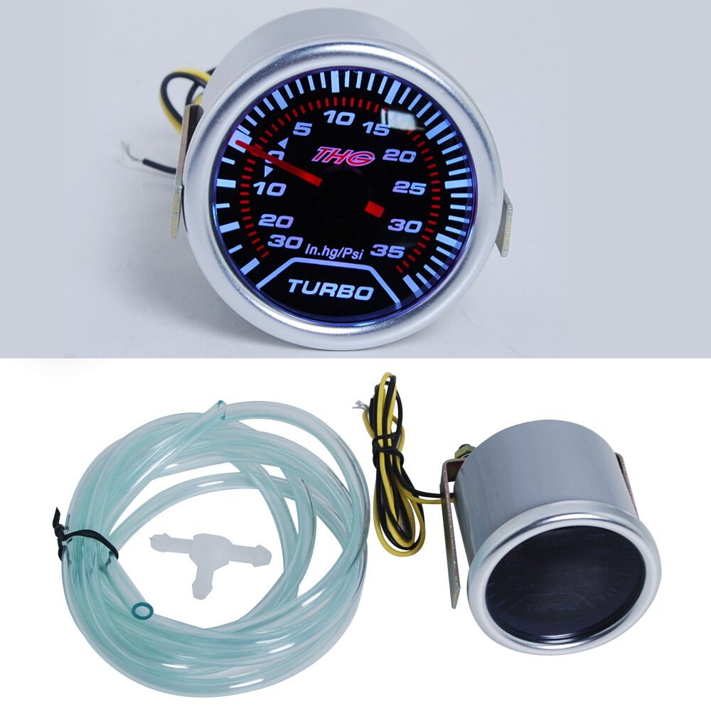 THG 6142 Boost Gauge 12V Diš¢metro: los 52MM Shell plš¢stico -30PSI-35psi: Amazon.es: Coche y moto