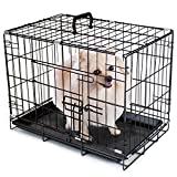 Folding Metal Pet Crate with Removable Liner by Weebo Pets (XS - 18'' x 12'' x 14'' Single Door)