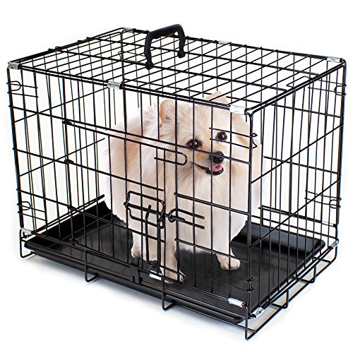 Folding Metal Pet Crate with Removable Liner by Weebo Pets (XS - 18