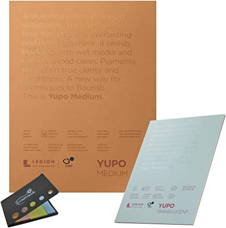 9 X 12 inches Translucent 104lb Legion Yupo Polypropylene Pad 15 Sheets
