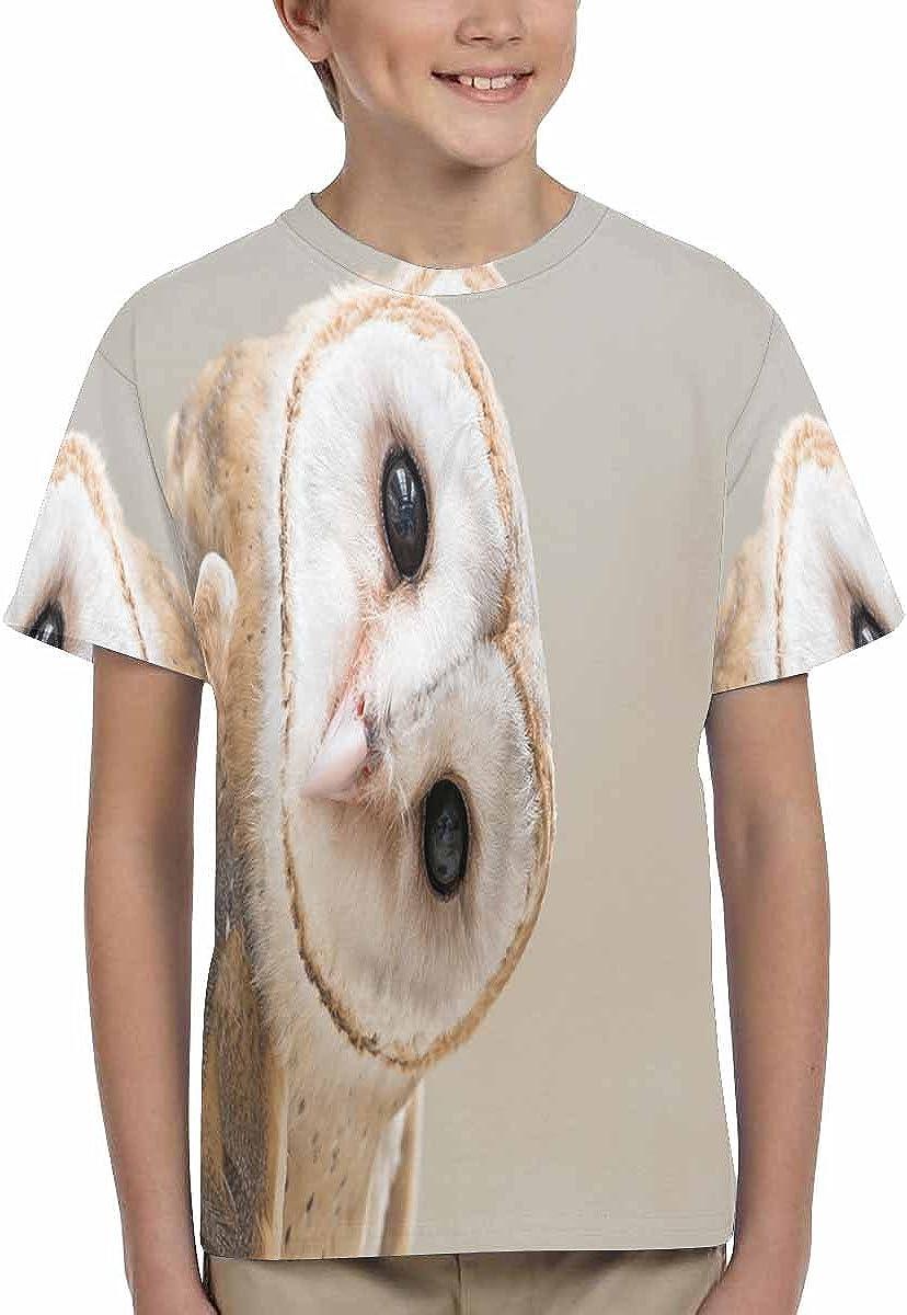 INTERESTPRINT Childs T-Shirt Common Barn Owl XS-XL