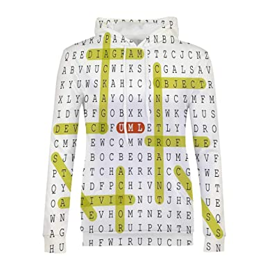 Amazon com: Word Search Puzzle Modern and Simple Hoodies,for