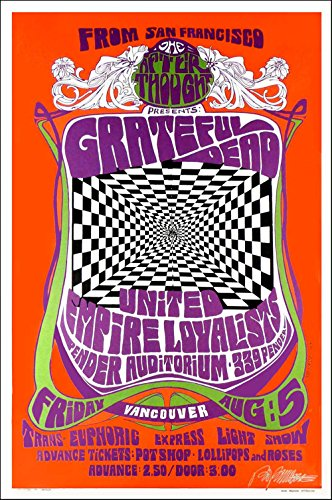 Reprint Concert Poster - Grateful Dead Poster Vancouver Nice Signed Concert Poster Reprint Bob Masse