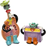 Appletree Design Country Electronic Guitar and Amp Salt and Pepper Set, 2-1/4-Inch, 5-Inch