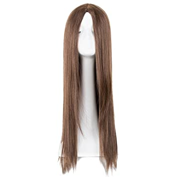 Synthetic Long Hair Straight Blonde Wigs Heat Resistant Fiber Pelucas Cartoon Role Cos-Play Costume