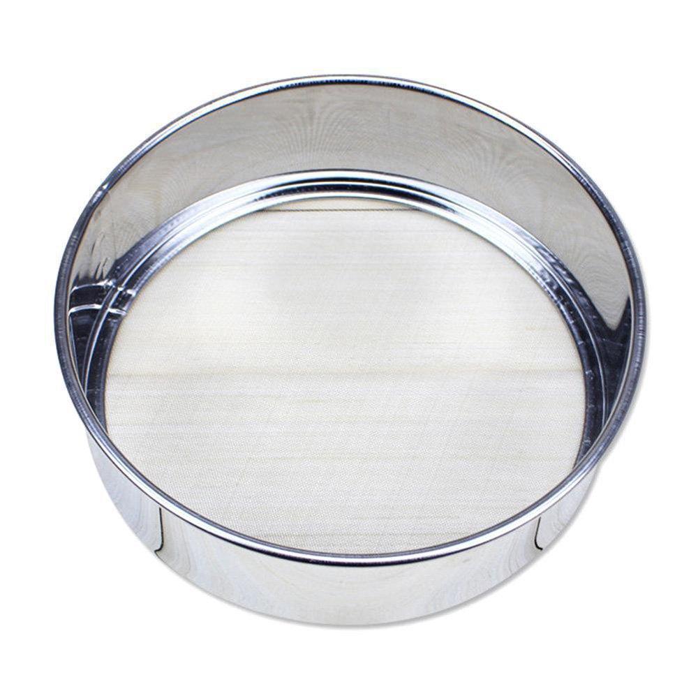 TXIN Stainless Steel Fine Mesh Flour Sieve, Professional Round 40 Mesh Colander Sifting Strainer Kitchen Cake Baking Tool