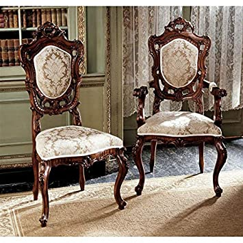 Groovy Amazon Com Design Toscano Toulon French Rococo Chairs Set Short Links Chair Design For Home Short Linksinfo