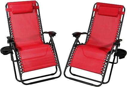 3 Pieces Folding Recliner Zero Gravity Lounge Chair Patio Deck Lounge Chair Set