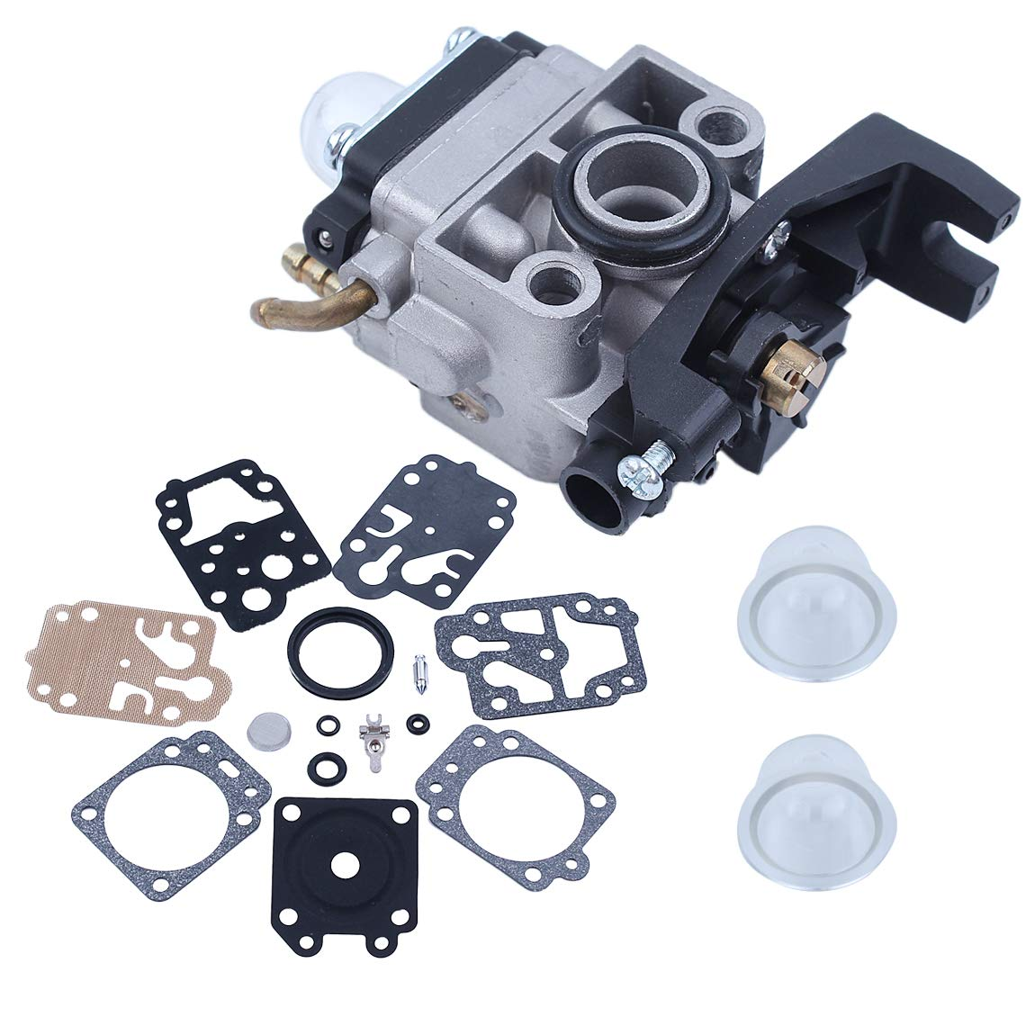 Haishine Kit de reconstruction du diaphragme de lamorce de carburateur Carb pour Honda GX35 HHB25 HHT35 HHH25 HHT35S Coupe-buisson /à 4 temps