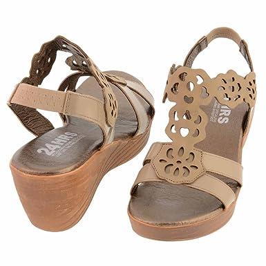 5116cf51 24 HORAS, Sandali donna Beige Taupe 41: Amazon.it: Scarpe e borse