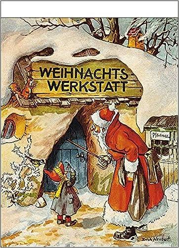 'Weihnachtswerkstatt' nostalgischer Adventskalender mit 24 Blättern zum Abreißen