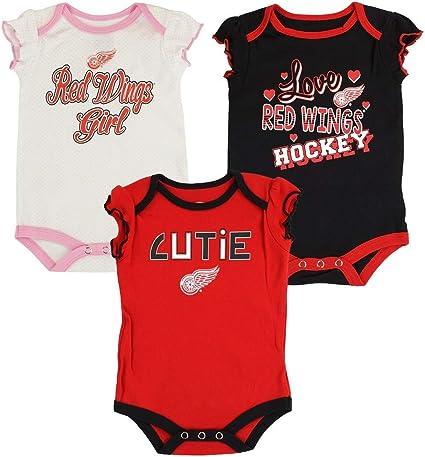 NHL Detroit Red Wings Littlest Fan Bib Baby Infant /& Fanatics