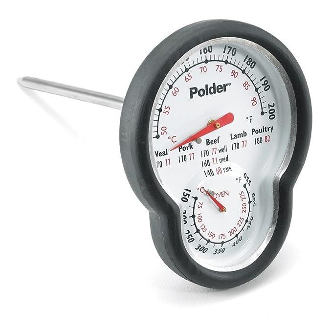 3 opinioni per Polder- Termometro da forno con doppio sensore, colore: Nero