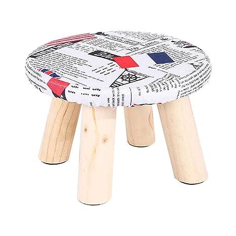 Amazon.com: Footstools Upholstered Ottoman Pouffe Round ...