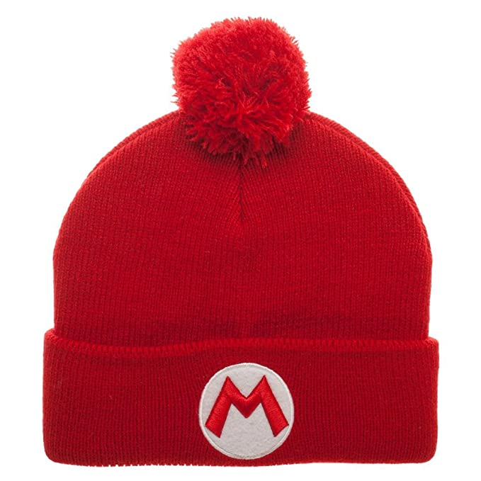 435954acb92 Image Unavailable. Image not available for. Color  Nintendo Super Mario Bros.  Winter Pom Beanie