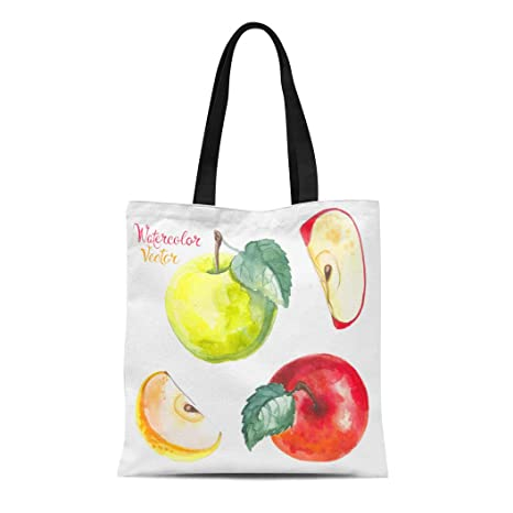f5c3c691c556 Amazon.com: Semtomn Canvas Tote Bag Shoulder Bags Yellow Fruit ...