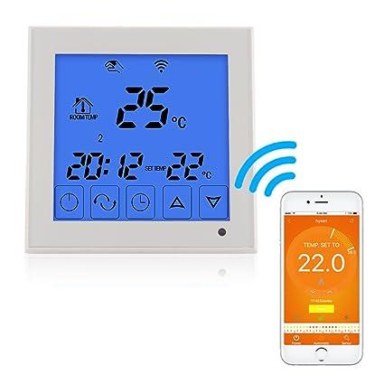 Bonega WiFi Smart - Termostato programable con pantalla LCD táctil para sistema de calefacción de agua