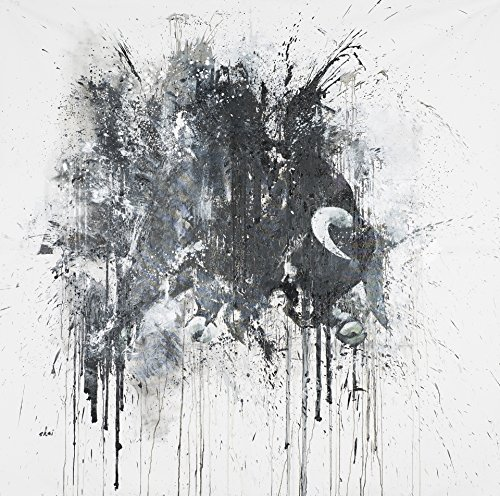 Extra extra-large black wild bull animals portrait oil painting print on canvas by the artist Shai Yossef, on cotton canvas prints for livingroom great art UNFRAMED - Carlo Mirror Monte Contemporary