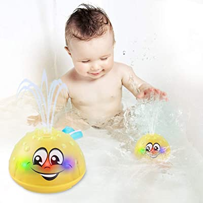 Sprinkler Ball Toy Bath Toys Water Spray Toy with LED Light and Music Kids Gift