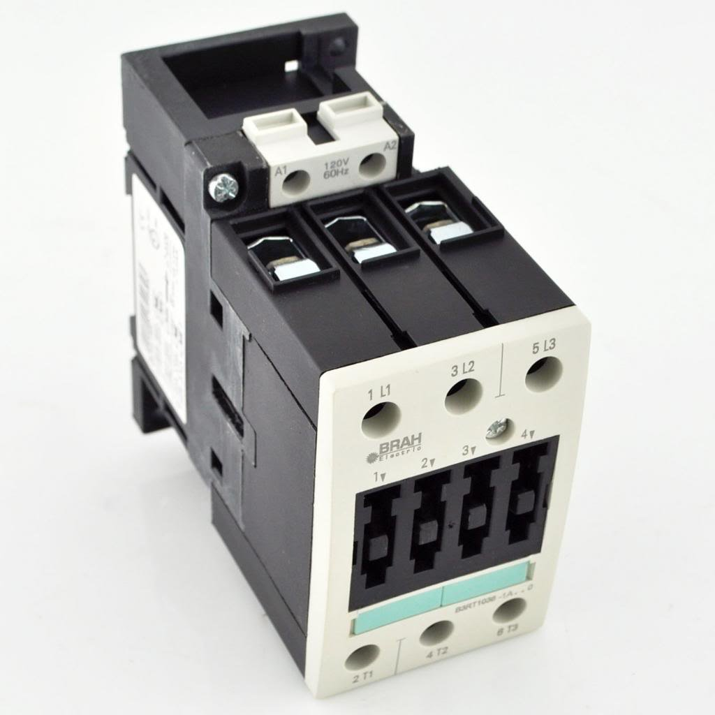 Direct Replacement For Siemens 3RT1036 Contactor 3RT1036-1AK61 120/110V Coil, 50/60Hz 50 Amp with 1 year warranty 3RT 1036 by Brah Electric (Image #1)
