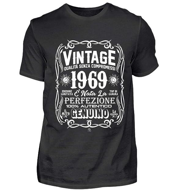 Ebenblatt Vintage 1969 Regalo Di Compleanno 50 Anni 100 Autentico