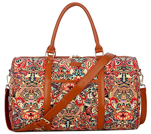 BAOSHA HB-29 Ladies Women Canvas Carry-on Weekender Bag Trav