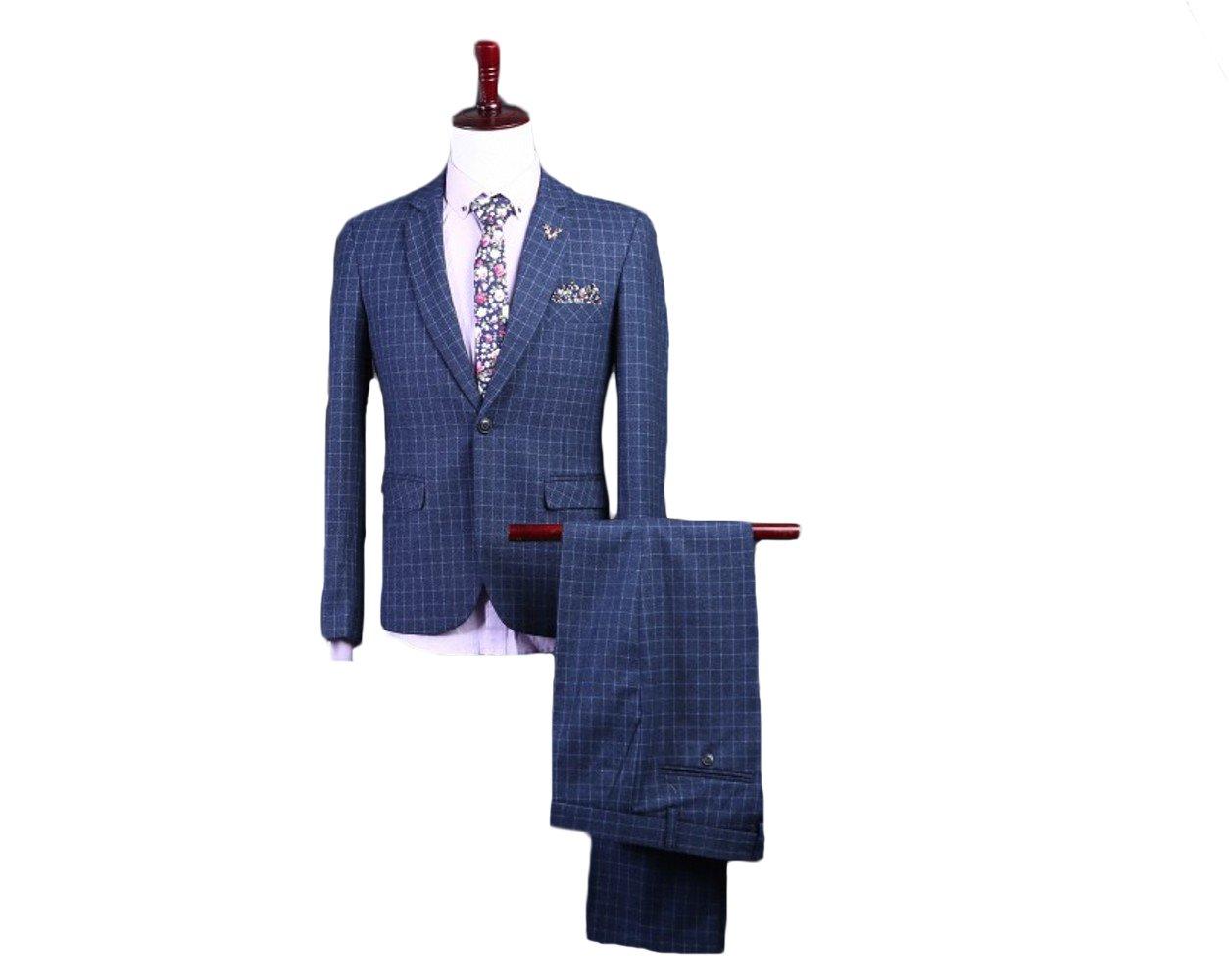 Love Dress Men Wedding Gown 2-Piece Suit ( Jacket+Pant+Tie) L
