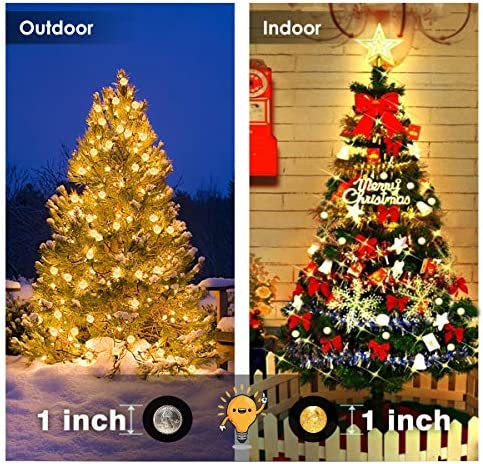 ALOVECO Solar String Lights Outdoor, 25ft 40 LED Crystal Ball Waterproof String Lights Solar Powered Fairy Lighting for Garden Home Landscape Holiday Decoration