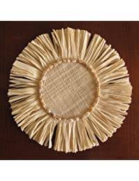 Purchase Raffia Fringed Coaster, Natural/Small Brown Shells, A Set of 6 compare