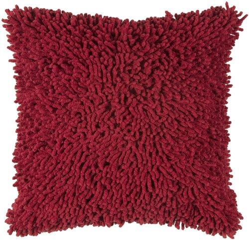 Rizzyホームt-3727装飾枕、18 by 18インチ、レッド/レッド   B005FPCEWW