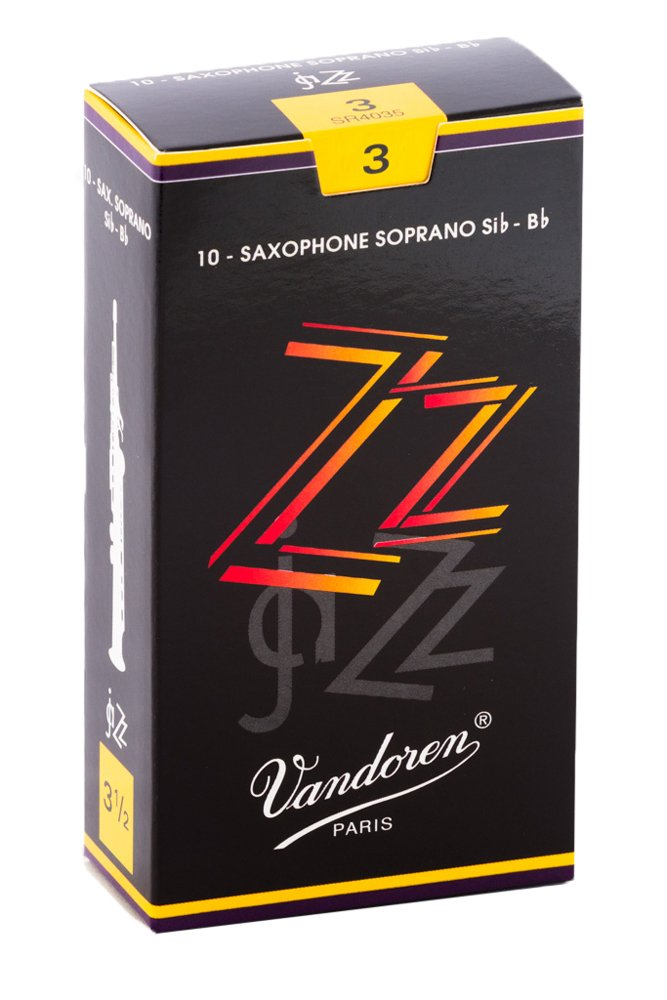 Vandoren SR403 Soprano Sax ZZ Reeds Strength 3; Box of 10