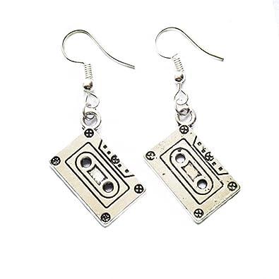 84d31f7daf86b Cassette Earrings - Mixtape Geek Nerd Earrings Retro Funky Jewelry Funny  Earrings Cute Earrings Quirky Old School 80s 90s Punk Rock Groovy