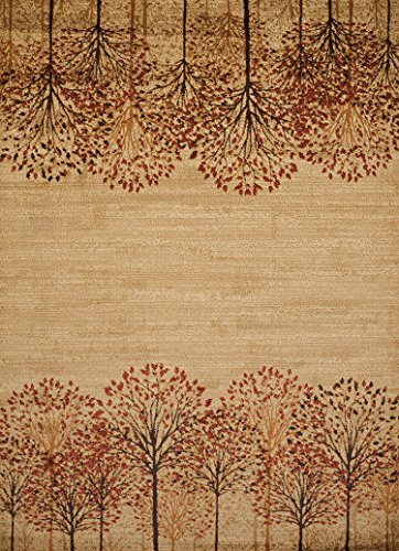 United Weavers of America Affinity Tree Blossom Area Rug - 1ft. 10in. x 3ft., Natural, Machine Made Rug with Twisted Heatset Construction