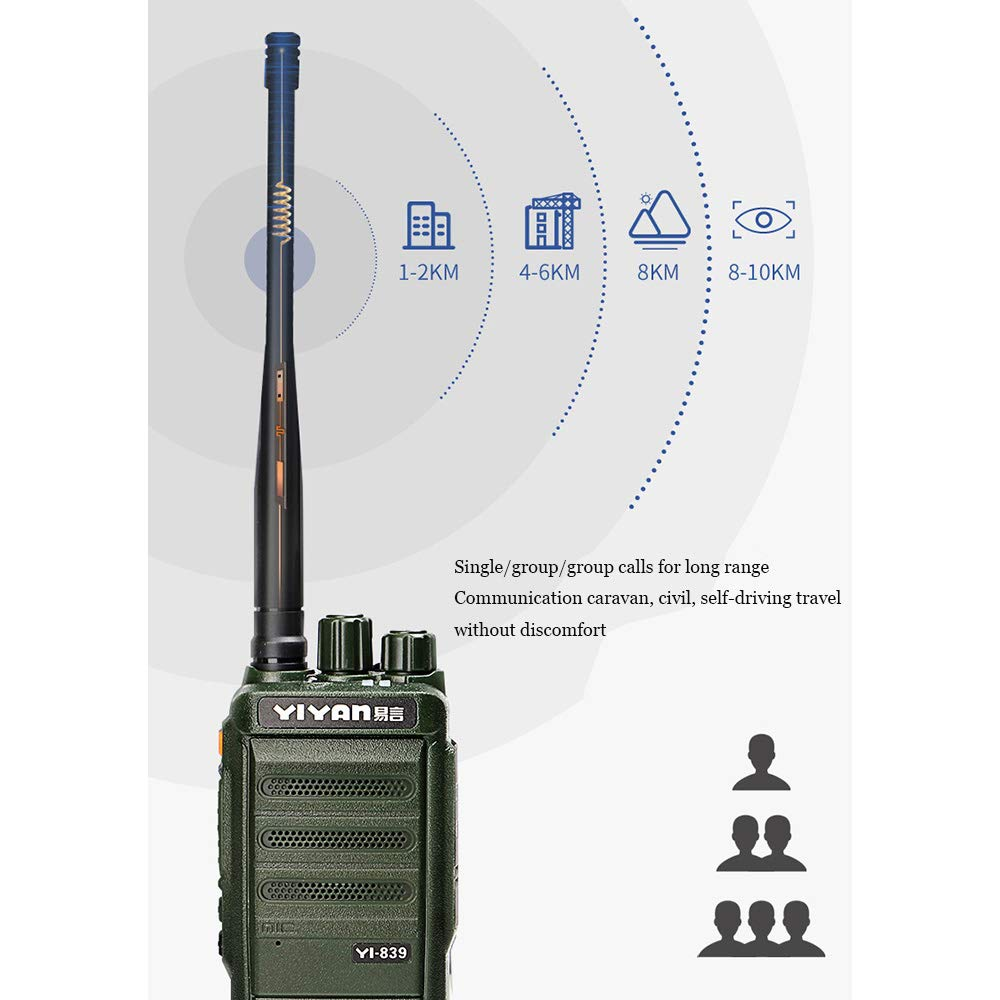 Digital Walkie-Talkie, Walkie-Talkie Rechargeable Long-Distance Walkie-Talkie Noise Reduction Chip Function Dual Channel Switching 15W High Power Battery Life