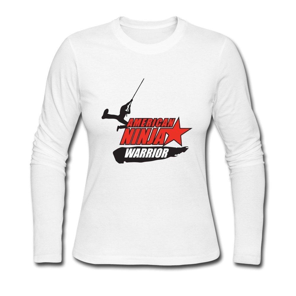 Womens O-neck American Ninja Warrior T Shirt Small: Amazon ...