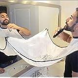 SUNWALY Shave delantal cortar la barba en minutos sin el desorden y dejen de estorbar su fregadero! La calidad estética del Cabo - Mantenga su fregadero limpio y Novia feliz! El regalo de la barba Mejor afeitar! (White)
