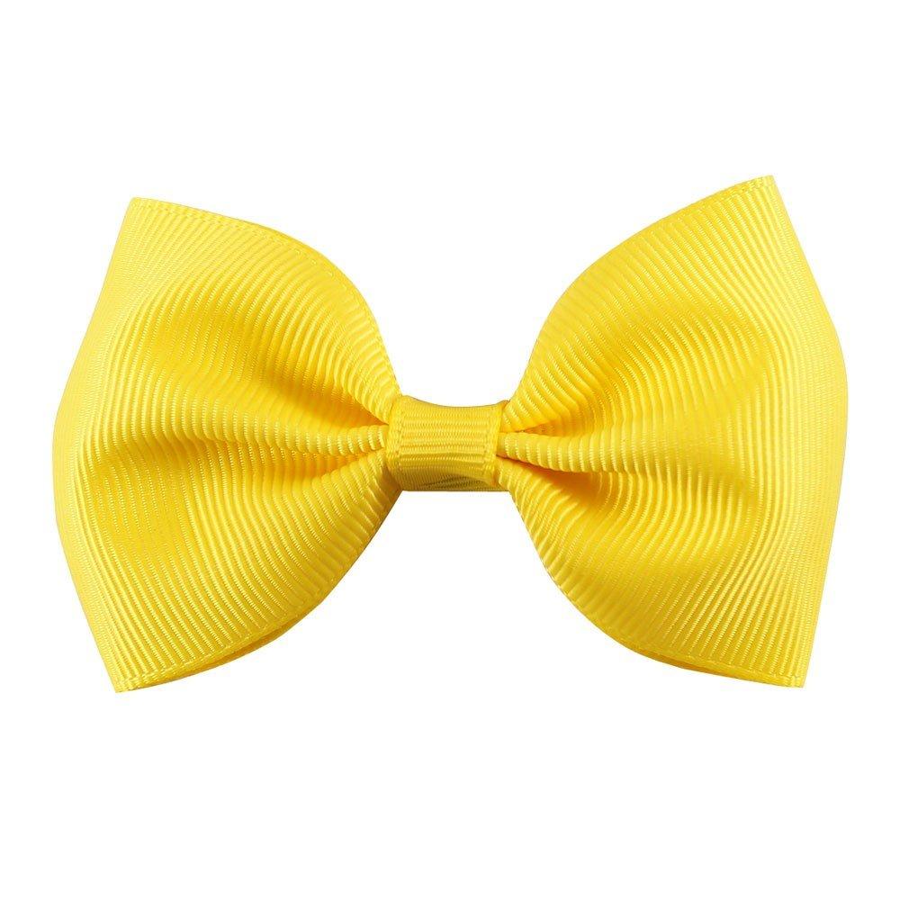 CELLOT 40pcs 2.75 Boutique Hair Bows Tie Baby Girls Kids Children Rubber Band Ribbon Hair bands