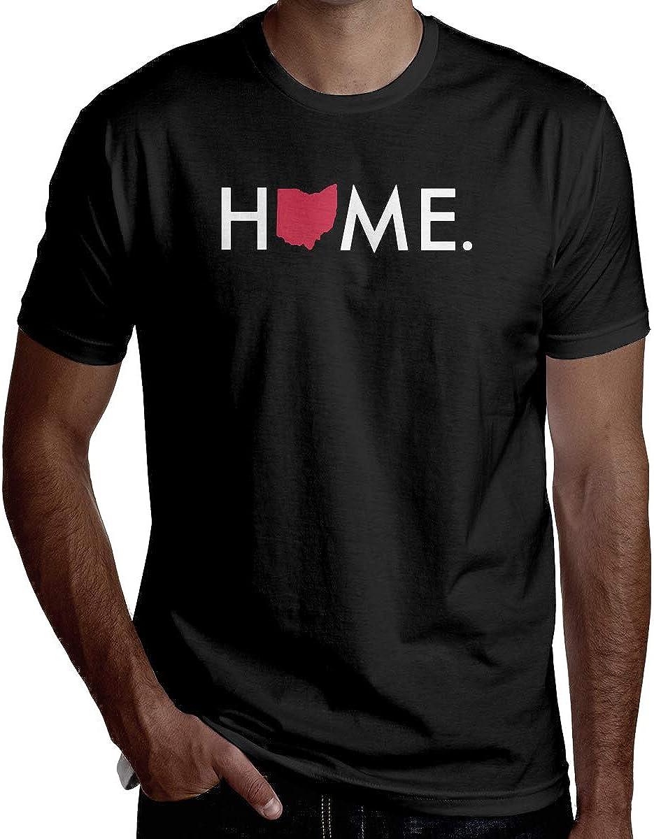 Mrscsefid Home State - Ohio Man's Handsome Short-Sleeved T-Shirt Fashion T-Shirt Helpshirt